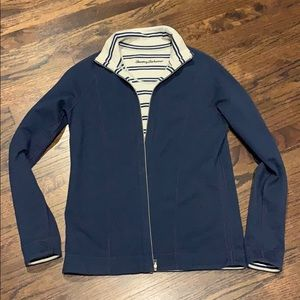 Tommy Bahama sport sweater jacket navy blue